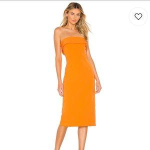 Revolve Bardot Georgia Midi Dress Mandarin
